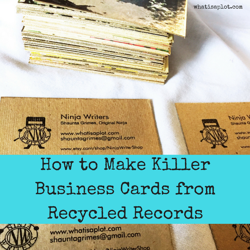 How to Make Killer Business Cards from Recycled Records - Ninja Writers